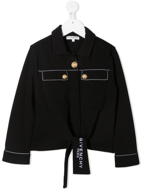 Givenchy Kids two-pocket knotted shirt