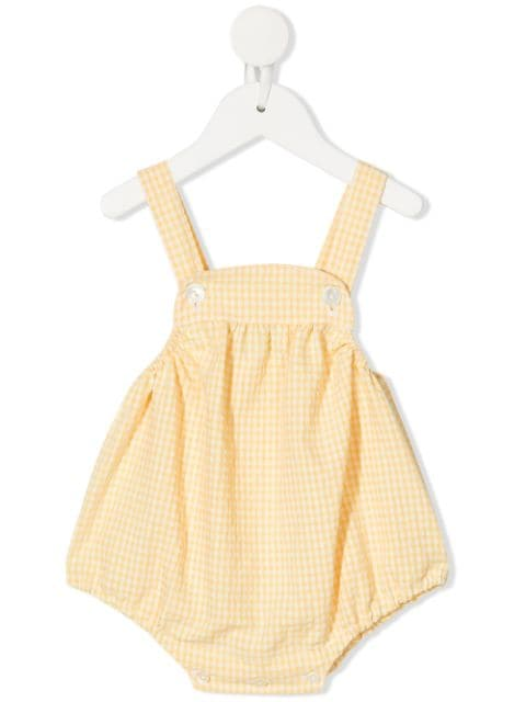 Siola square-neck short dungarees