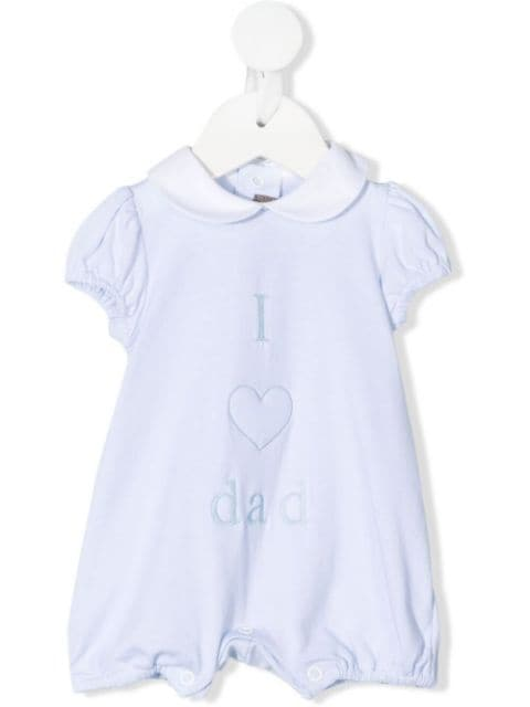 Little Bear I Love Dad-embroidered shorties