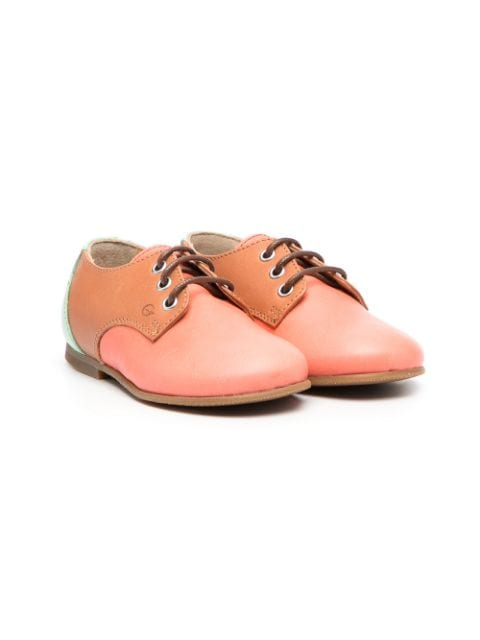 Gallucci Kids two-tone lace-up shoes