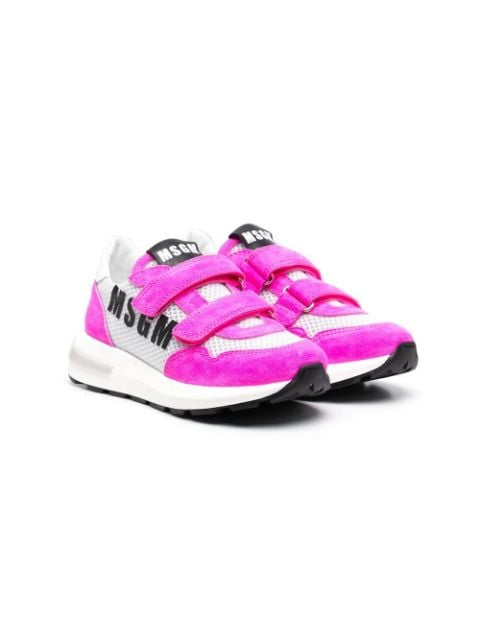 Msgm Kids TEEN logo touch-strap sneakers