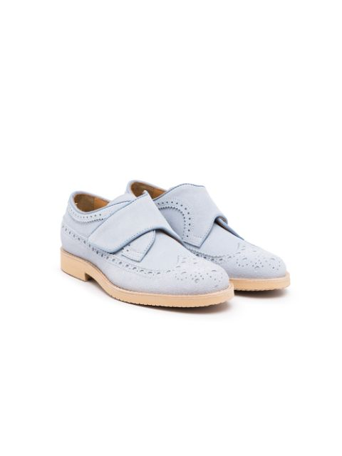 Gallucci Kids round-toe touch-strap fastening brogues