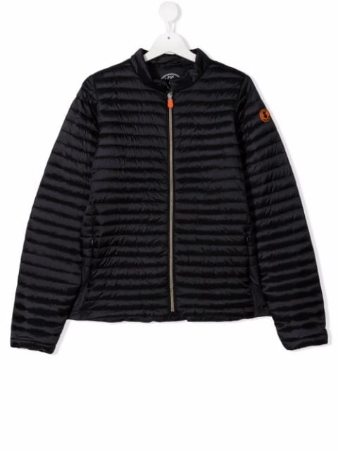 Save The Duck Kids TEEN logo-patch padded jacket