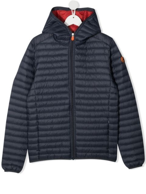 Save The Duck Kids TEEN padded hooded jacket