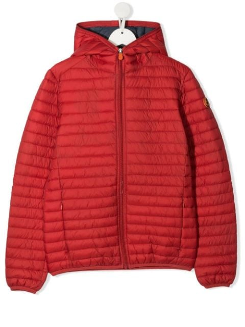 Save The Duck Kids TEEN hooded zip-up padded jacket