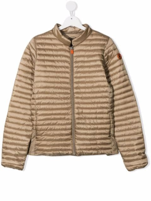 Save The Duck Kids logo-patch padded jacket