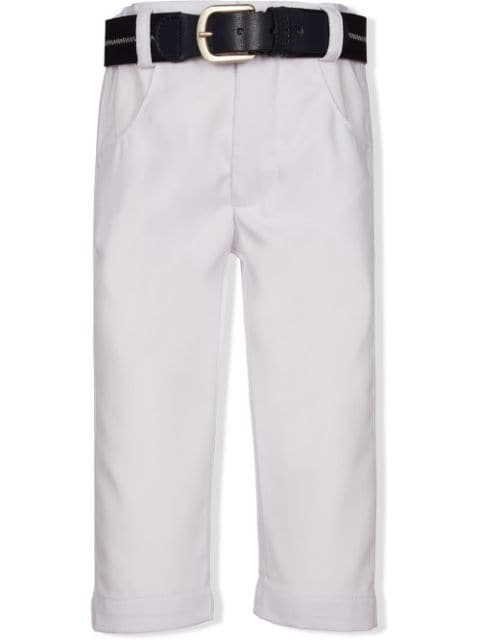 Lapin House belted cotton-blend trousers