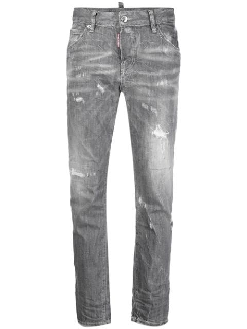 Dsquared2 distressed cropped skinny jeans