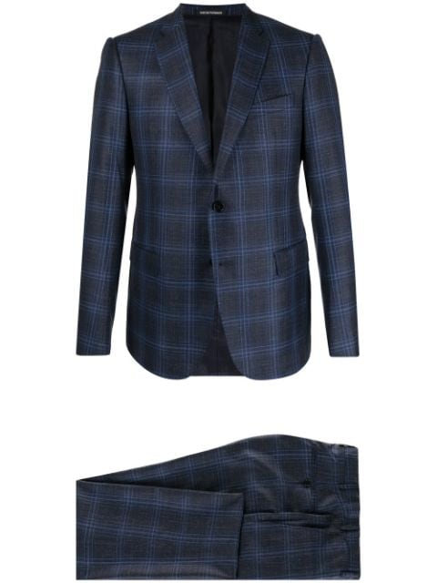 Emporio Armani single-breasted large check suit