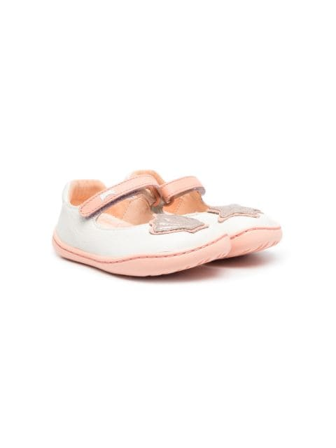 Camper Sea Shell patch ballerina shoes