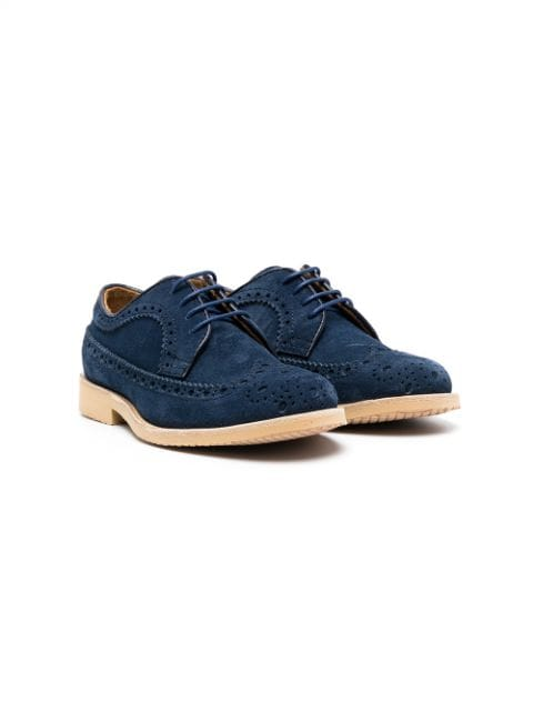 Gallucci Kids lace-up suede brogues