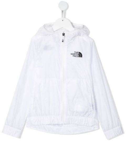The North Face lightweight logo-print hooded jacket