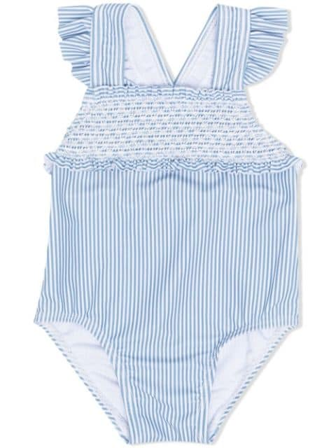 Tartine Et Chocolat striped embroidered swimsuit