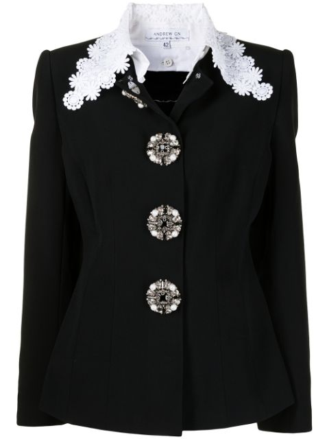 Andrew Gn embellished fitted jacket