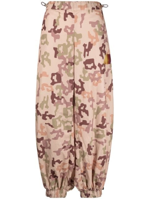 The Attico camouflage-print tapered trousers