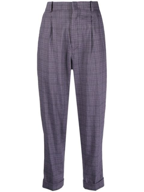 Isabel Marant Étoile check-pattern tapered trousers