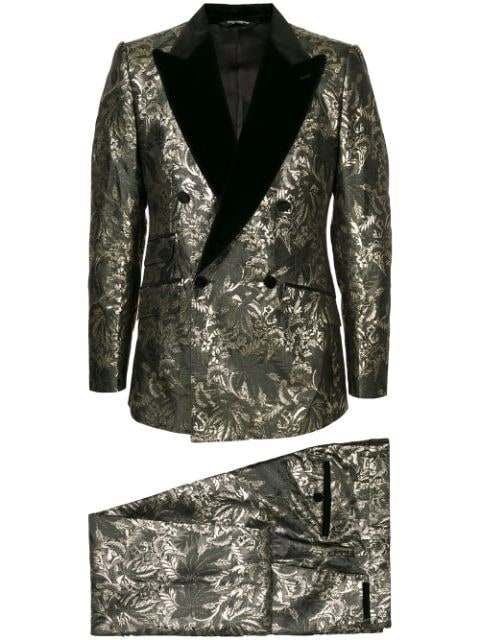 Dolce & Gabbana double-breasted jacquard dinner suit