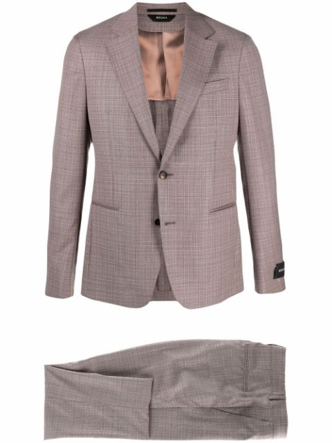 Z Zegna check-pattern two-piece suit