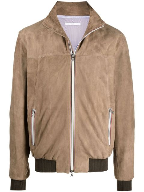 Low Brand zip-up leather jacket