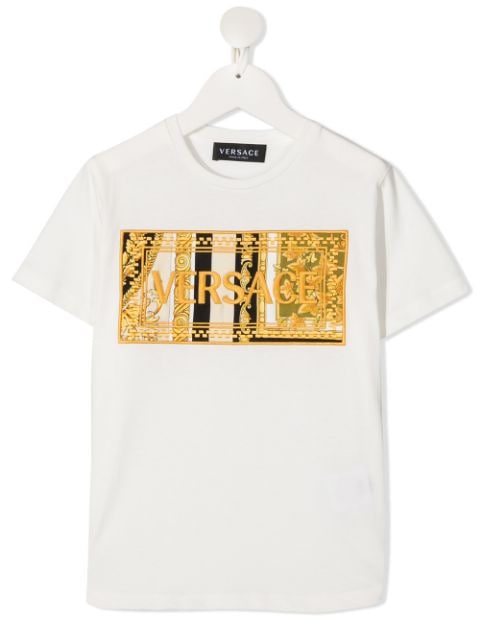 Young Versace Barocco embroidered-logo T-shirt