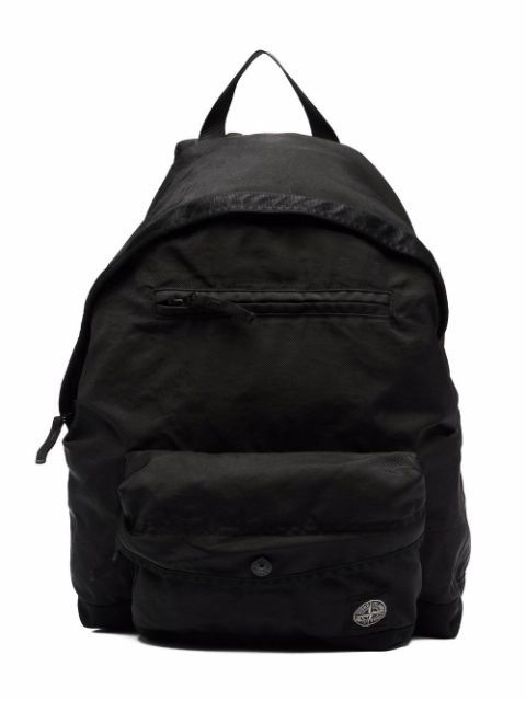 Stone Island Junior logo-patch backpack