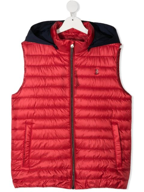 Herno Kids TEEN quilted hooded gilet