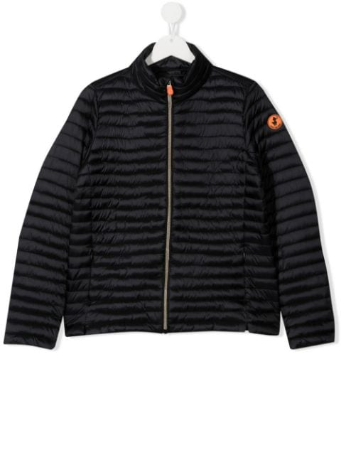 Save The Duck Kids TEEN logo patch padded jacket