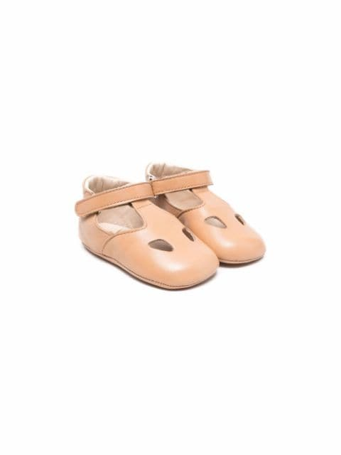 Gallucci Kids cut-out detail ballerina shoes
