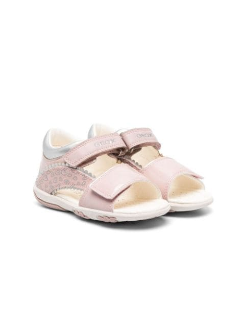 Geox Kids Nicely leather open-toe sandals