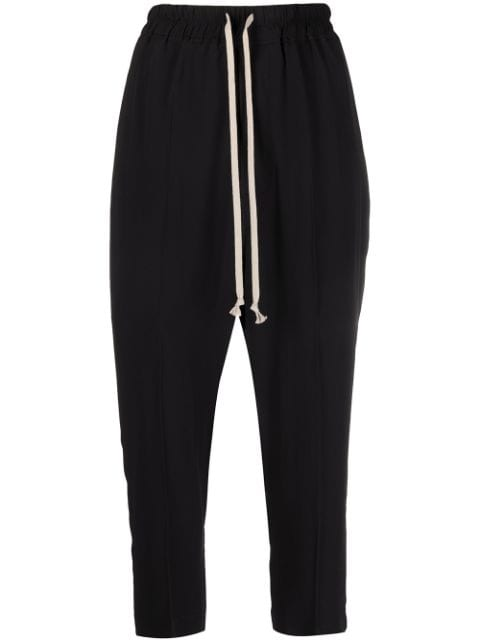 Rick Owens Phlegethon dropped crotch cropped trousers