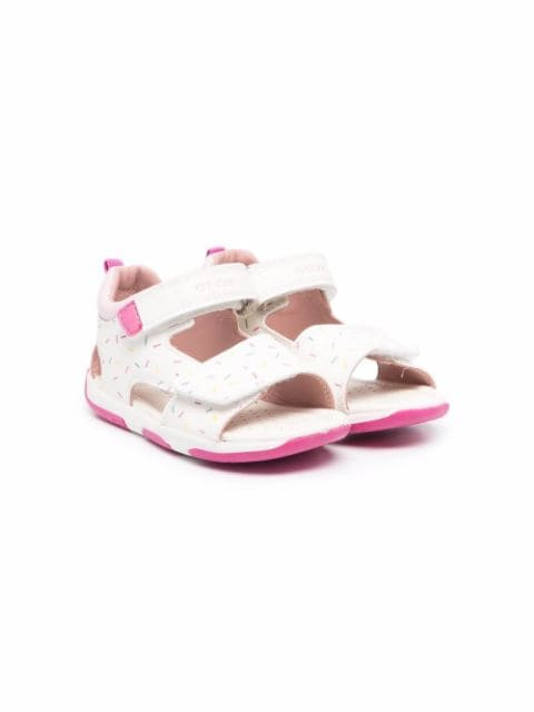 Geox Kids sprinkle-print touch-strap sandals