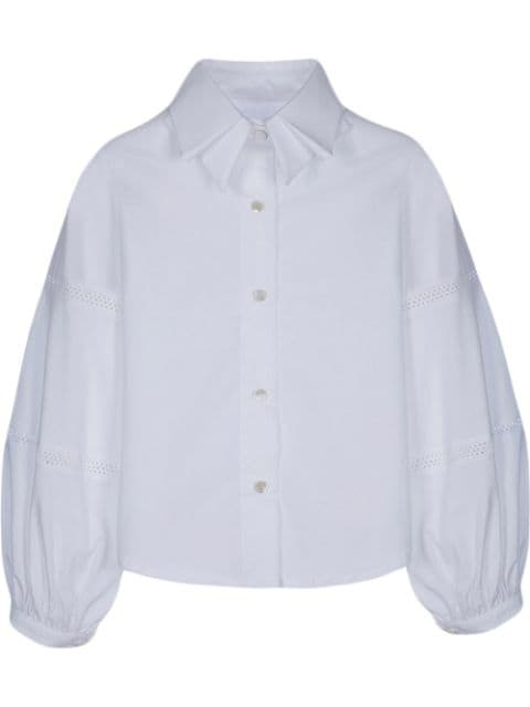 Lapin House bell-sleeve cotton shirt