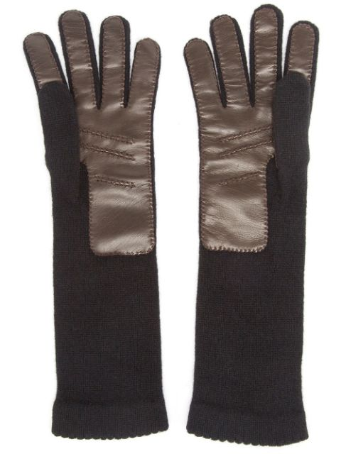 Inverni knitted leather gloves
