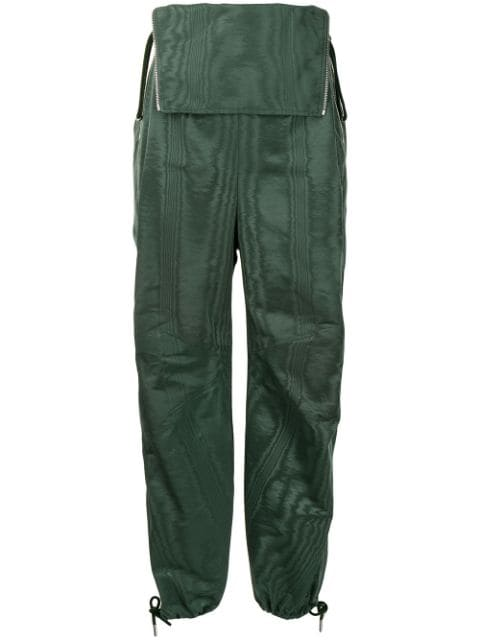 Dion Lee grain-effect folded waistband trousers