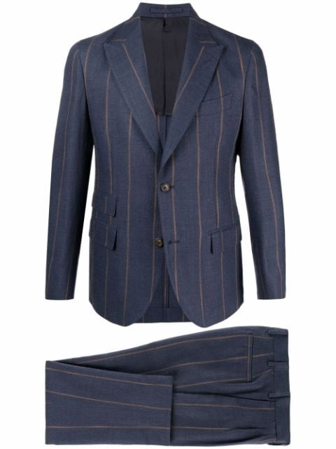 Eleventy striped single-breasted suit