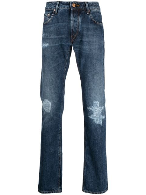 Hand Picked distressed straight-leg keans