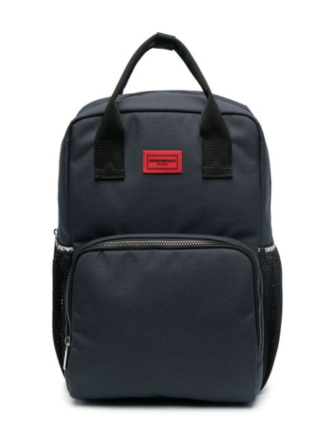 Emporio Armani Kids logo-patch backpack