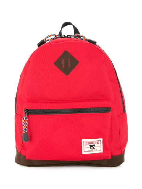 Miki House logo-patch backpack
