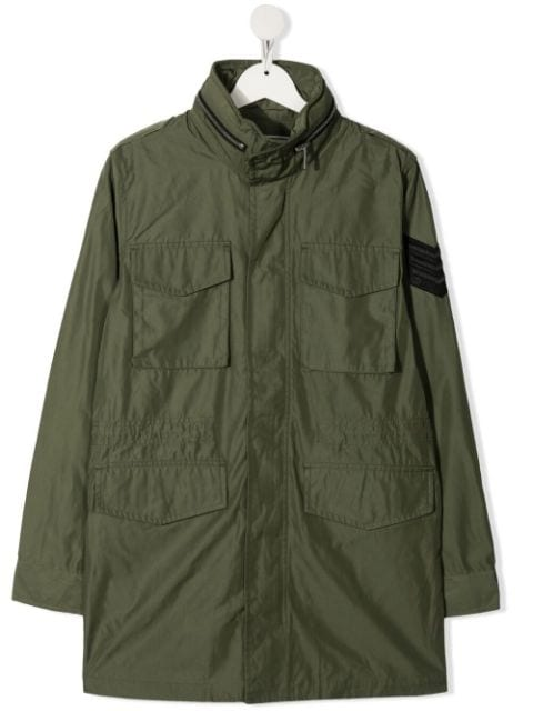 Zadig & Voltaire Kids TEEN single-breasted parka coat