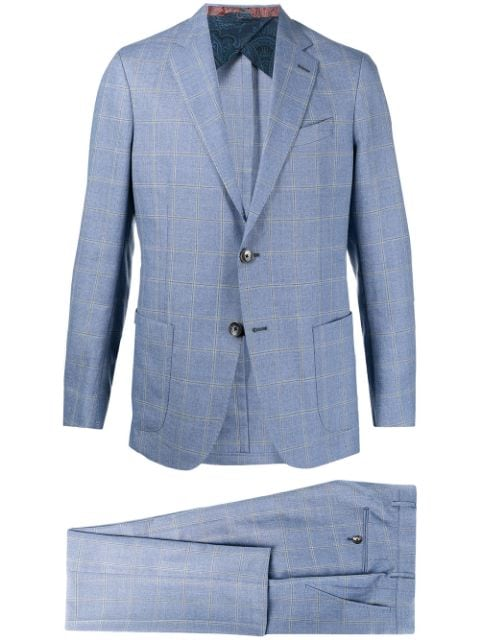 Etro check tailored wool suit