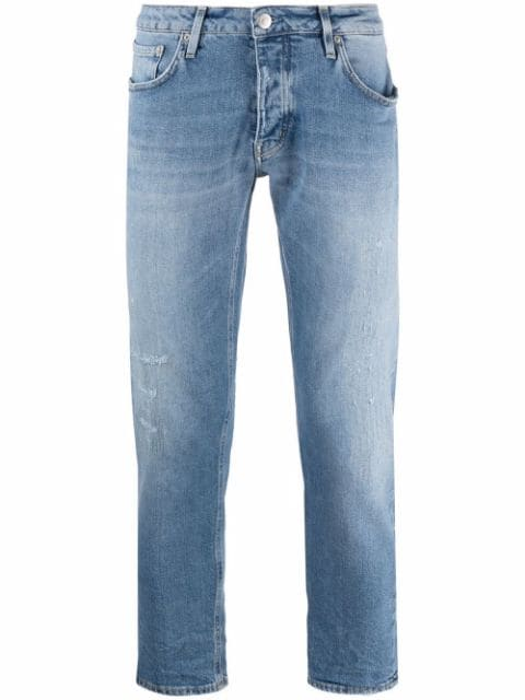 Haikure faded distressed cropped jeans