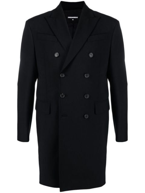 Dsquared2 zip-detail double-breasted coat