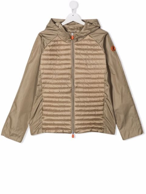 Save The Duck Kids TEEN padded zip-up jacket