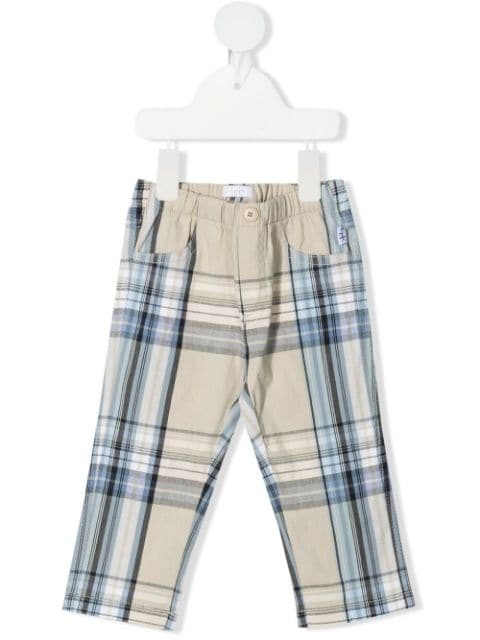 Il Gufo elasticated-waist checked trousers
