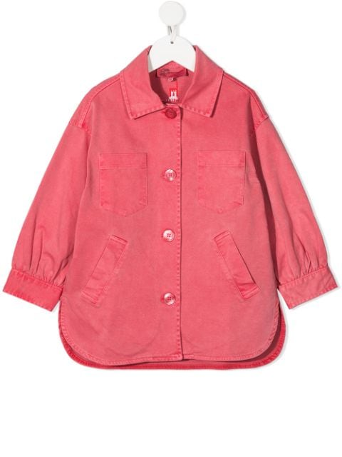 Weekend House Kids. embroidered logo organic cotton jacket