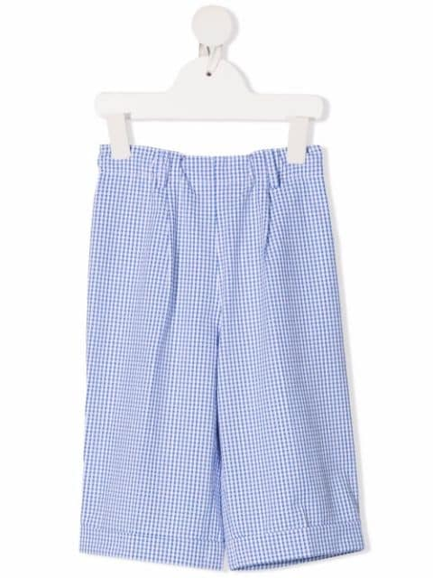 Siola gingham check tailored shorts