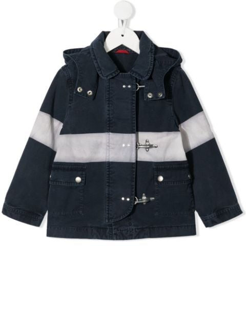 Fay Kids hooded cotton coat
