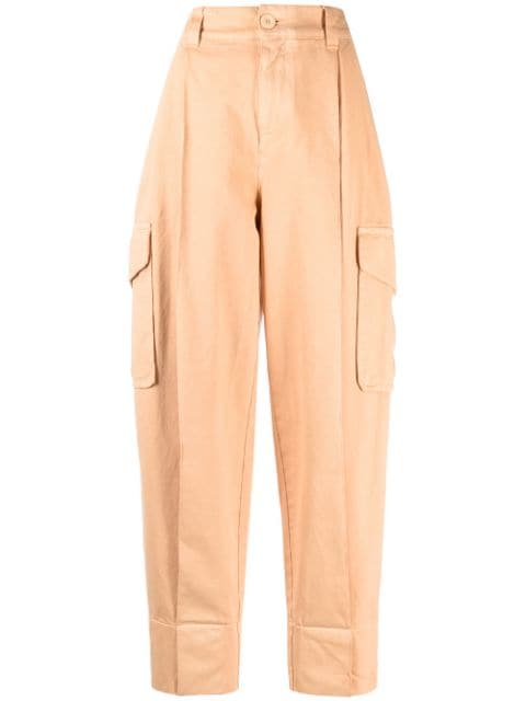 See by Chloé high-waisted tapered-leg trousers