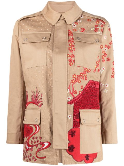 RedValentino floral embroidered shirt jacket