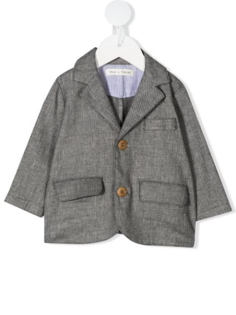 Zhoe & Tobiah single-breasted textured blazer